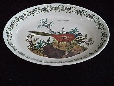 Portmeirion china 14in oval serving bowl baking dish Pheasant Birds of Britain