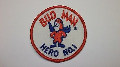 Vintage Bud Man Hero No. 1 Patch