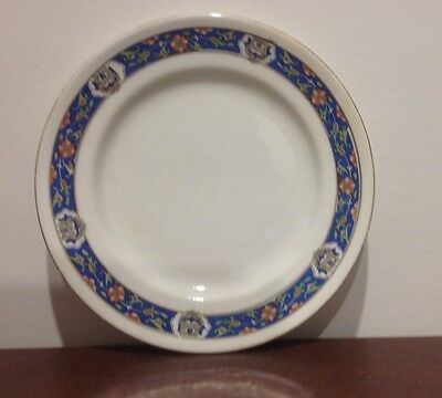 Vintage Paragon Plate 16 cm England Gilded with Blue pattern edge Fine China