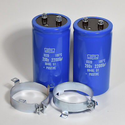 NIPPON CHEMI-CON 200V 22000uF CAPACITOR Lot of 2