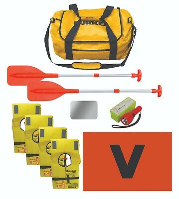 Safety Gear Bag Marine Boat 45 x Lifejackets Mirror bailer Paddles Torch V Sheet