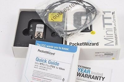 MINT POCKETWIZZARD MINITT1 TRANSMITTER, BOXED, w/CABLE (NIKON)