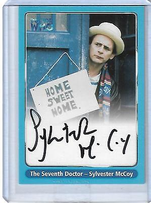 Doctor Who Series One A4 Sylvester McCoy as Seventh Doc Black Variant Auto Card