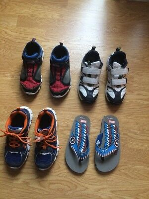 Stride Rite Boys Kids Lots 4Pairs Spidey, Propel2Lace, Clayx H&L Captain 2M