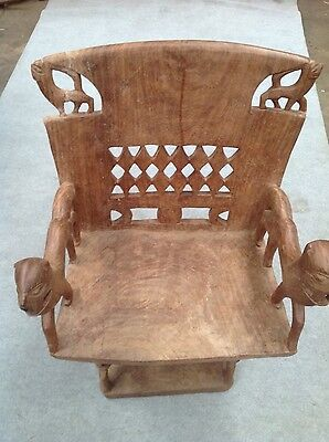 vintage hand carved timber chair from the tansania region africa