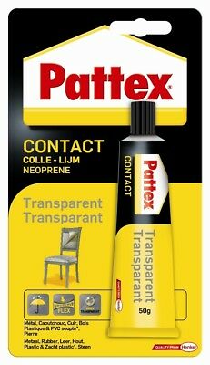 Pattex 1563743Strong Transparent Contact Adhesive 50g Blister Pack