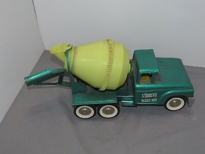 1960's VINTAGE Structo Ready Mix Cement Mixer Truck Pressed Steel with CHUTE