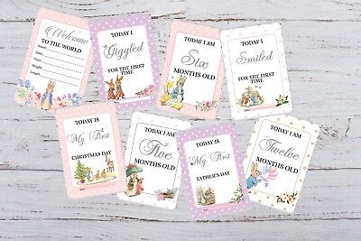 SALE Baby Milestone Cards - Peter Rabbit - Baby shower Gift  Photography-pkt 28