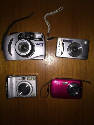 Digital Cameras + Regular Camera Lot: Vivitar & Canon Read Description