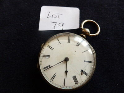 Vintage silver pocket watch  –Lot 79