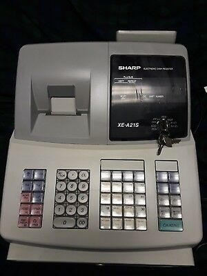 SHARP ELECTRONIC CASH REGISTER XE-A21S and KEYS