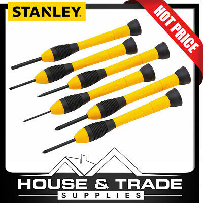 Stanley Screwdriver Set Precision Jewelers 6 Piece SLOTTED & PHILIPS 66-052