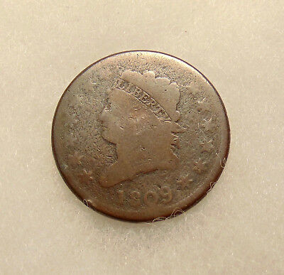 1809 Large Cent - Scarce Date - Decent Looking Coin - FREE SHIPPING