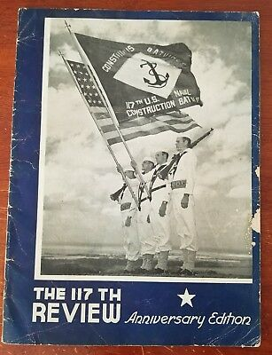 Original WWII Military The 17th Review US Navy Magazine - signed by Commander