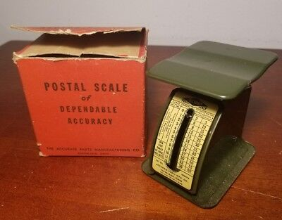 "Vintage ""Accurate"" Postal Scale Manufactured By Accurate Parts Co. in Box"