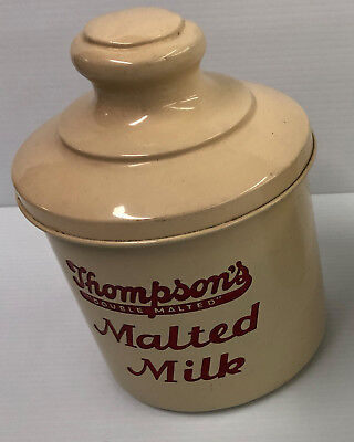 Early Thompsons Malted Milk Container Nice Soda Fountain Addition NO RESERVE