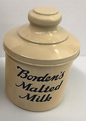 Early Bordens Malted Milk Container Nice Soda Fountain Addition NO RESERVE