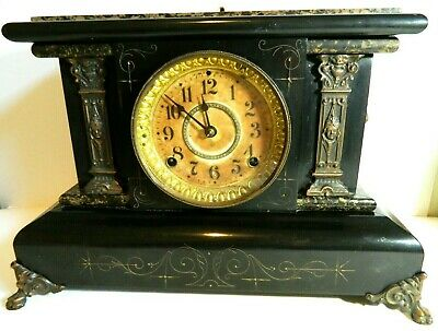 Antique 1880 Seth Thomas Clock Co. Adamantine Mantle Clock