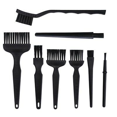 COHK 8Pcs ESD Safe Anti Static Brush Set Detailing Cleaning Tool for Mobile Phon