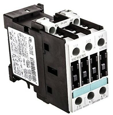 Siemens 3RT1026-1BB40 CONTACTOR, AC-3 11 KW/400 V, DC 24 V, 3-POLE, SIZE S0, SCR