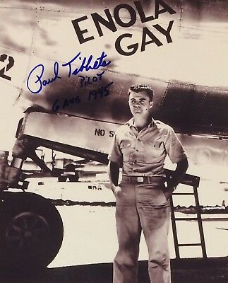 Paul Tibbets AUTHENTIC HAND SIGNED 8x10 photo Enola Gay Pilot WWII Atomic Bomb