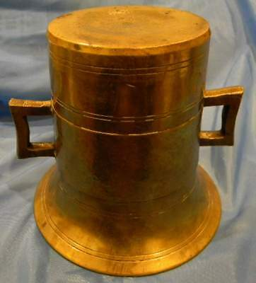 Antique Solid Brass Mortar  -Apothecary-Medical- Very Large
