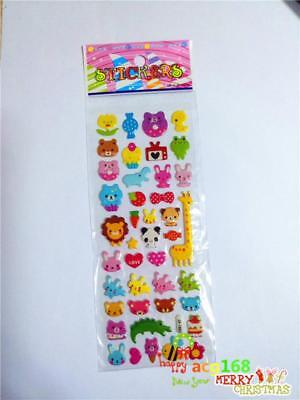 Animal Xmas Sticker 1pc Puffy Cartoon Stickers Wall Lot Craft Kid Party Toy Gift
