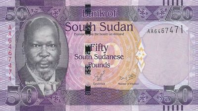 2011 South Sudan 50 South Sudanese Pounds