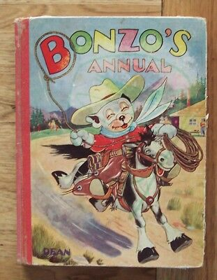 Vintage BONZO'S Annual Book. Dean & Son London  England George Studdy