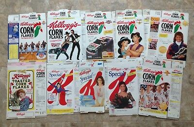 Kelloggs Corn Flakes Cereal Boxes Vintage   **look  A Lot Of 10**