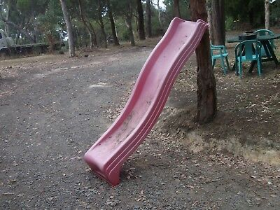 childrens childs kids out door play equipment plastic big large long slide old ?