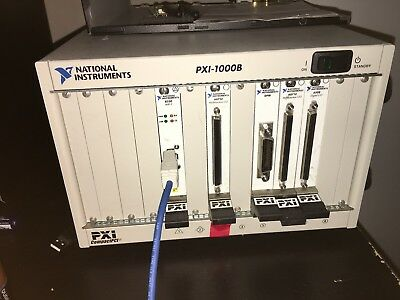 NI PXI-1000B Chassis & multiple boards & multiple cables