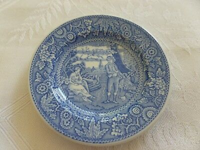 Miniature Spode Blue Room Collection Georgian Series 'Woodman' Collectible