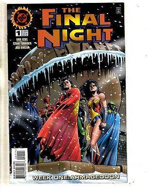 Lot Of 8 DC Comic Books Final Night # 1 2 3 4 + Finals # 1 2 (2) 3 Batman CR22