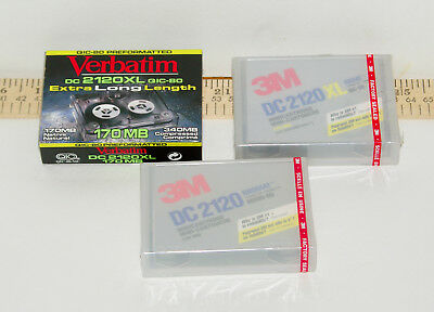 3 DC 2120 Data Cassettes, 2 3M and 1 Verbatim, Formated for QIC-80 and Irwin 80