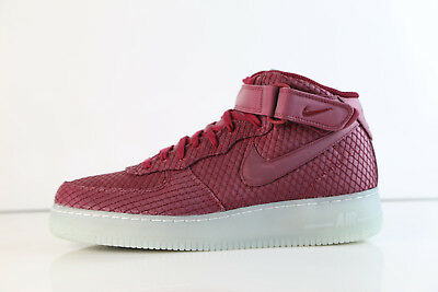 cheap for discount b7b40 565ee Nike Air Force 1 Mid 07 LV8 Team Red Clear 804609-603 8-14