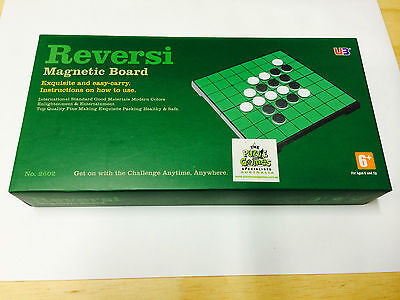 "Reversi 10"" Magnetic Game Board Travel Puzzle Novelty Toy Kids Brain Mind Hobby"