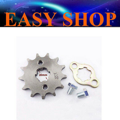 13T Tooth 20mm 420 FRONT CHAIN SPROCKET 50cc 110cc 125cc ATV QUAD DIRT BIKE PIT