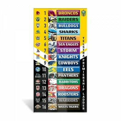 NRL Magnetic Mini Footy Ladder Official 11cm x 27cm Licensed