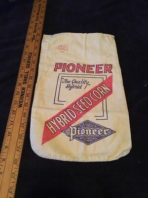 Vintage Pioneer Hybrid Seed Corn Seed Sack Sample Rare Version Size