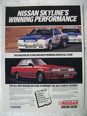 Nissan Skyline's Winning Performance Magazine Fullpage Colour Advertisement