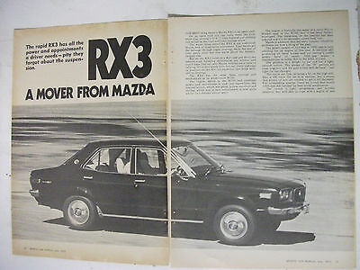 Mazda Rx3 Sedan 4 Page Australian Magazine Road Test