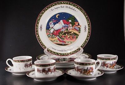 A CHRISTMAS STORY Susan Winget International China Box 12 Pcs Series ...