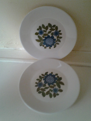 J and G Meakin Topic Small Tea Plates x 2