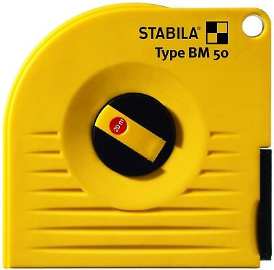 "Stabila 17221/3 20 m x 13 mm ""Type BM 50 (W)"" Cased Measuring Tape - Multi-Colou"