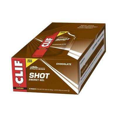 CLIF Shot Energy Gel Schoko 24er Box MHD 03-18