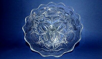 Australian Crown Crystal, Depression Glass, Waratah Pattern Comport, ca1925-1930