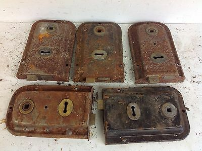 5 Vintage UNION Reclaimed Door Rim Locks Salvaged Old Project Architectural