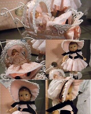 Effanbee Repro Vintage Patsy with Wee Patsy In Carriage V763 Brand New