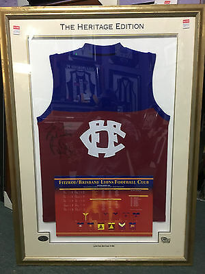Rare Fitzroy Bernie Quinlan Signed Limited Edition 'heritage' Framed Jumper